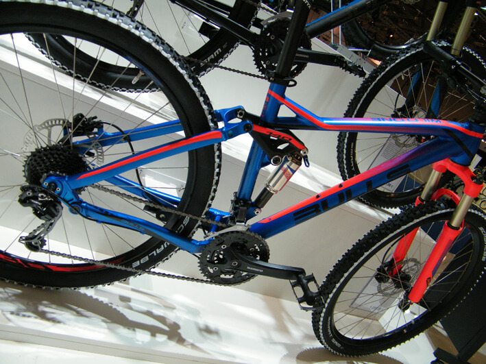 Bulls Fully Mountainbike in Blau/Orange mit Shimano Schaltung